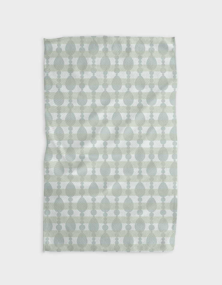 Oh Ovals Neutral Kitchen Tea Towel