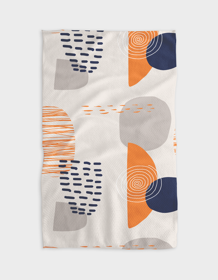 Orange Trails Kitchen Tea Towel