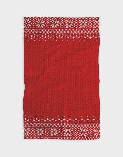 Red Sets Kitchen Tea Towel
