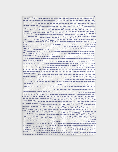 Simple Waves Kitchen Tea Towel