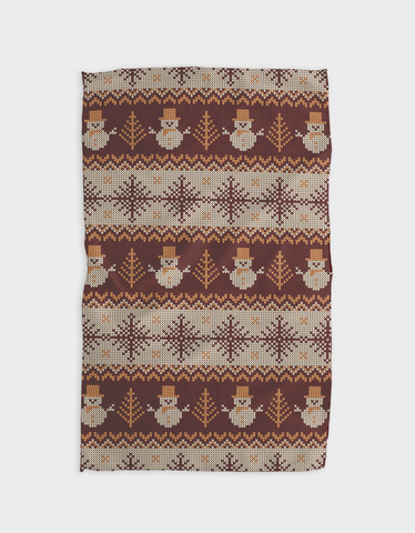 Snow Time Kitchen Tea Towel