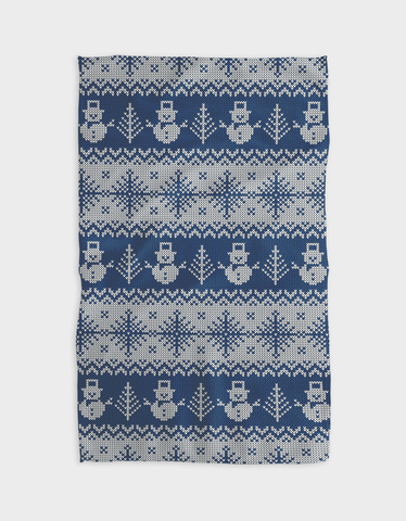 Snow Guys Kitchen Tea Towel