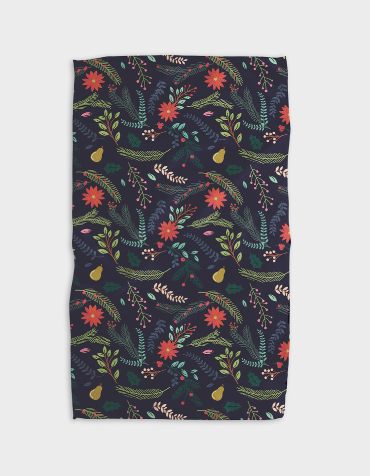 Branches Pear Blue Kitchen Tea Towel