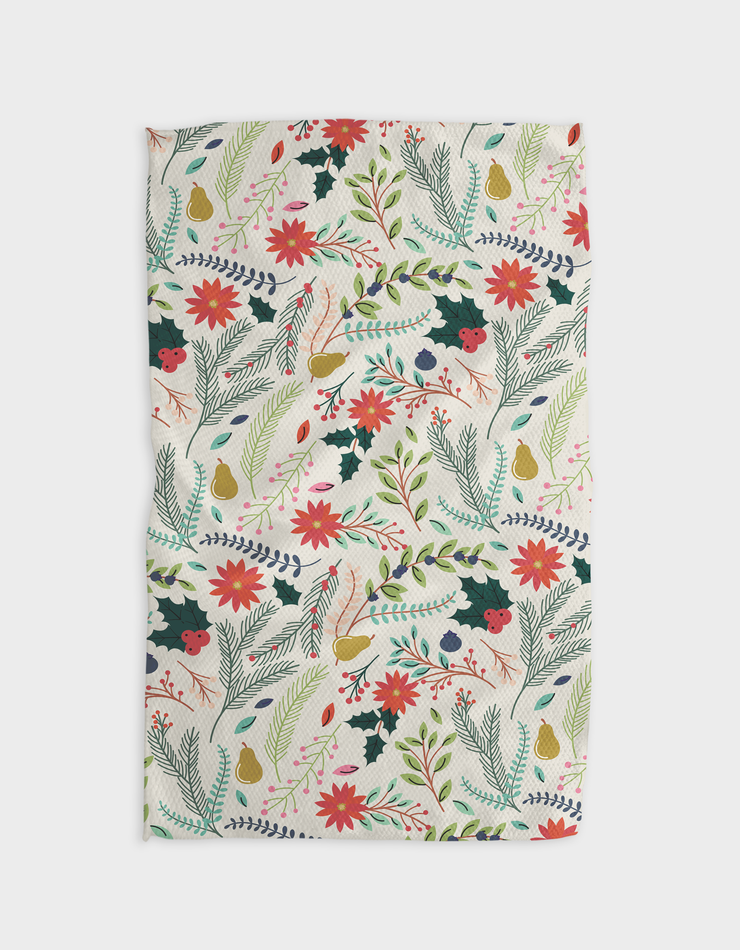 Branches Pear Light Kitchen Tea Towel