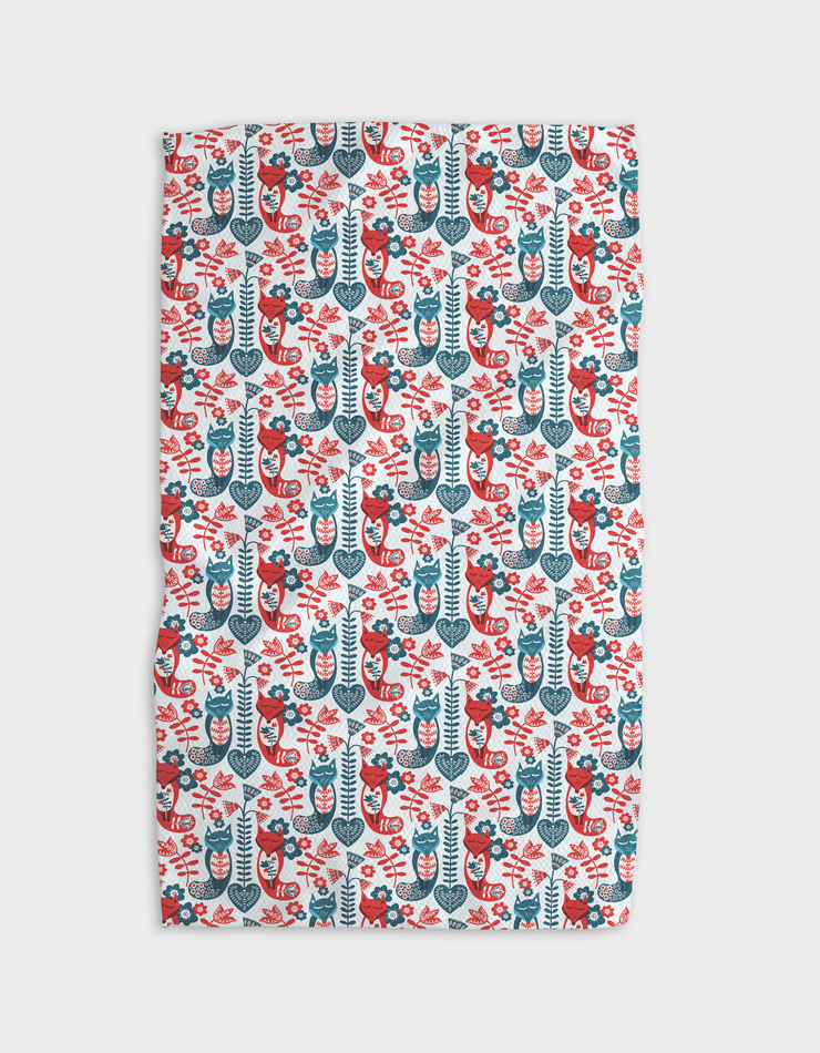 Far North Foxes Kitchen Tea Towel