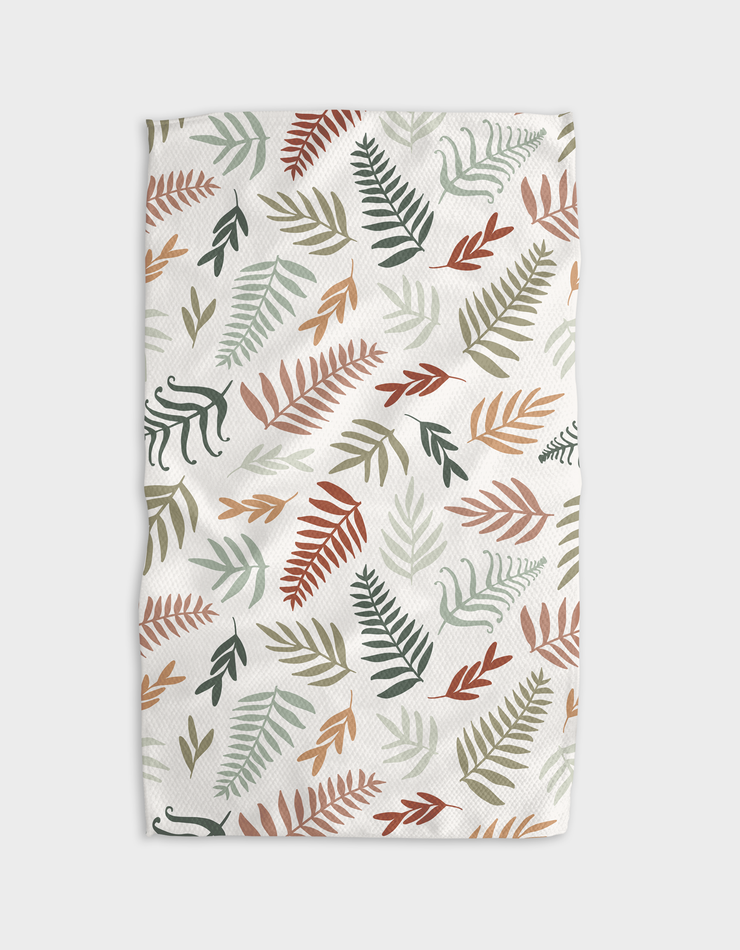 Forest Floor Ferns Kitchen Tea Towel