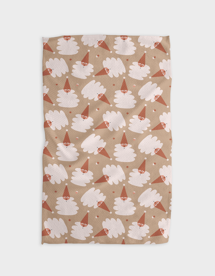 Mocha Claus Kitchen Tea Towel