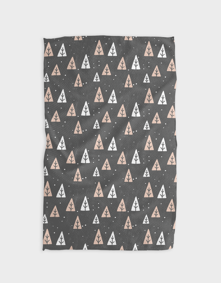 Mocha Snowies Kitchen Tea Towel