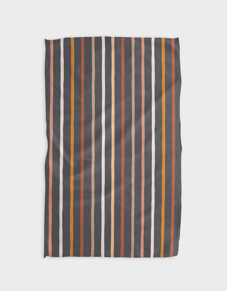 Mocha Stripes Kitchen Tea Towel