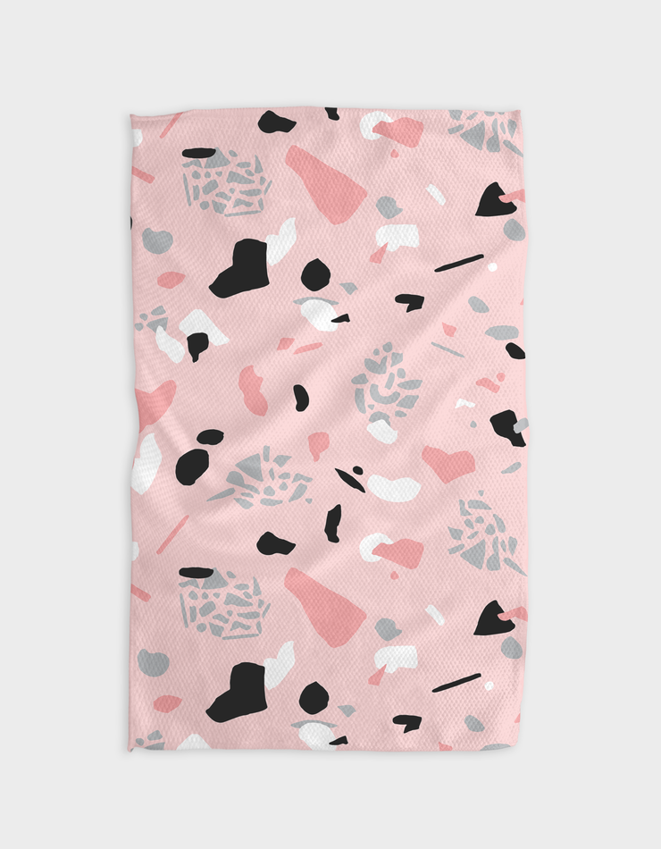 Pink Glass Kitchen Tea Towel