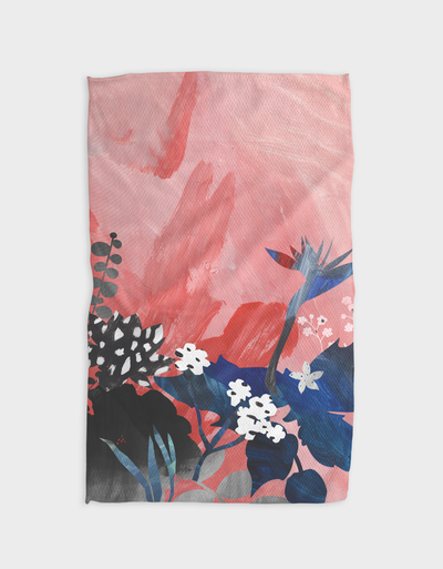 Pink Sky Kitchen Tea Towel