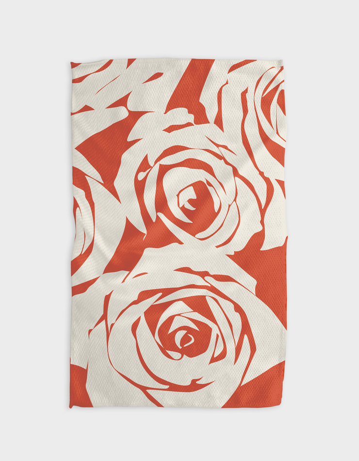 Rosas Blancas Kitchen Tea Towel