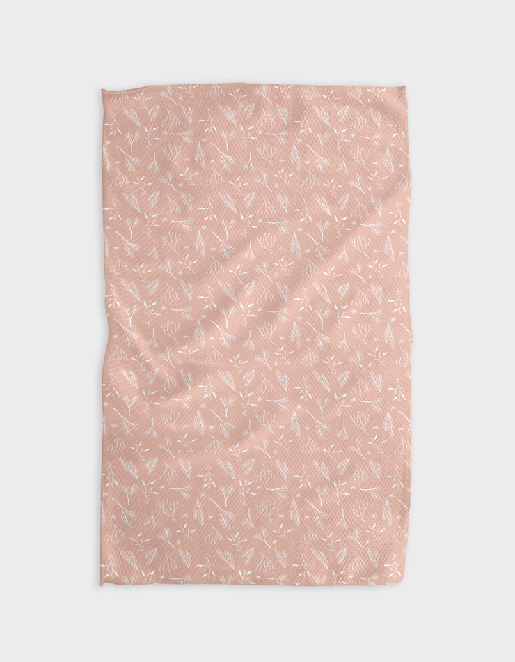 Sage Pink Kitchen Tea Towel