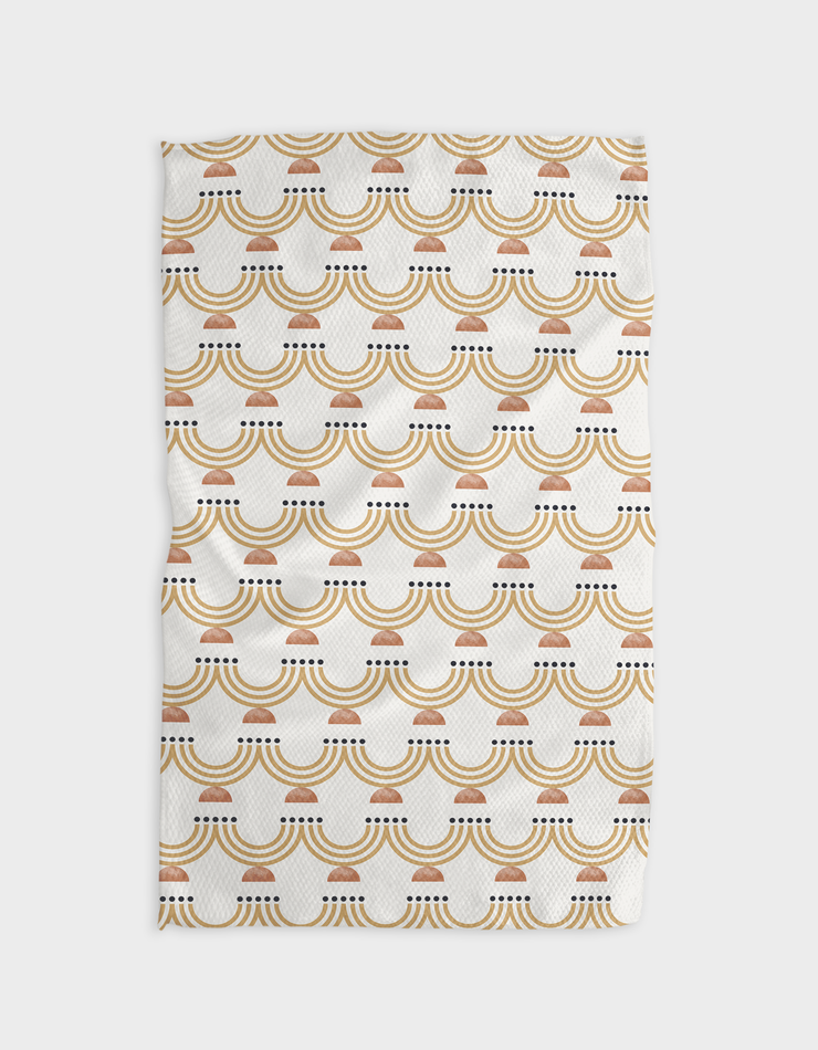 Starry Menorah Kitchen Tea Towel