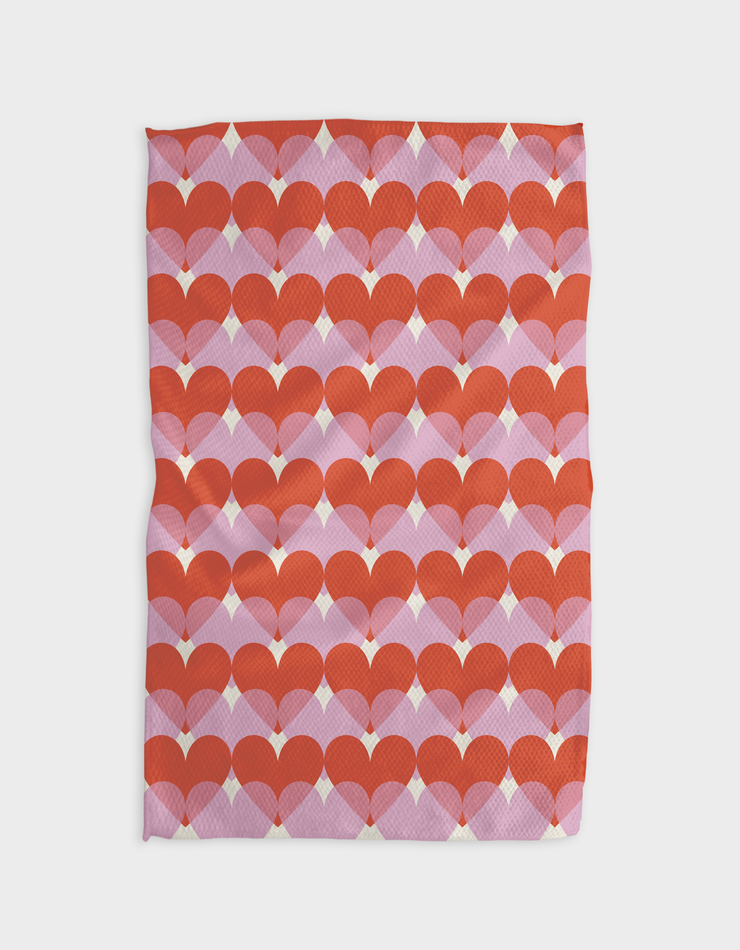 Transparent Love Kitchen Tea Towel