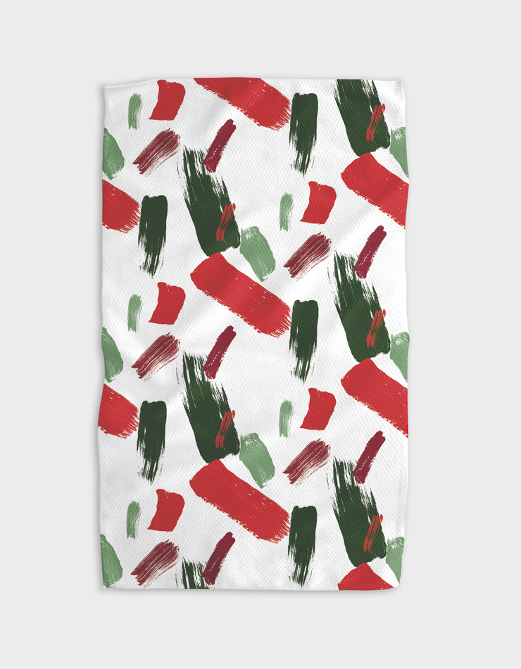 Xmas Paint Tic Tacs Kitchen Tea Towel