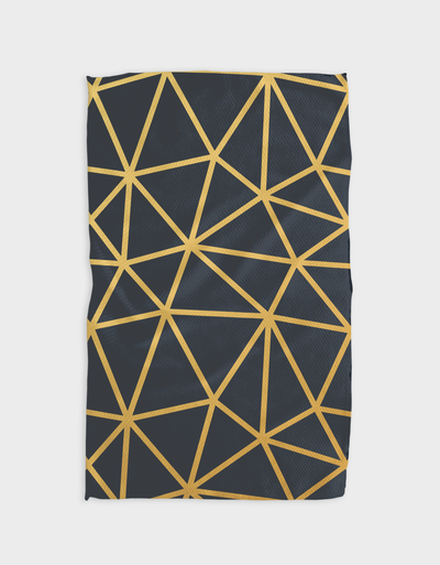 Triangular Gold Kitchen Tea Towel