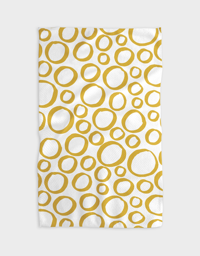 Yellow Pebble Kitchen Tea Towel