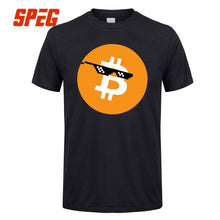 T Shirts Bitcoin In Cryptography We Trust Men's O Neck Moon Short Sleeve Crypto T-Shirt 2018 New Men Funky Tees Cotton Clothes