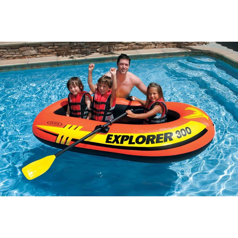 Bote Inflable Explorer 300 Intex + 2 REMOS + INFLADOR