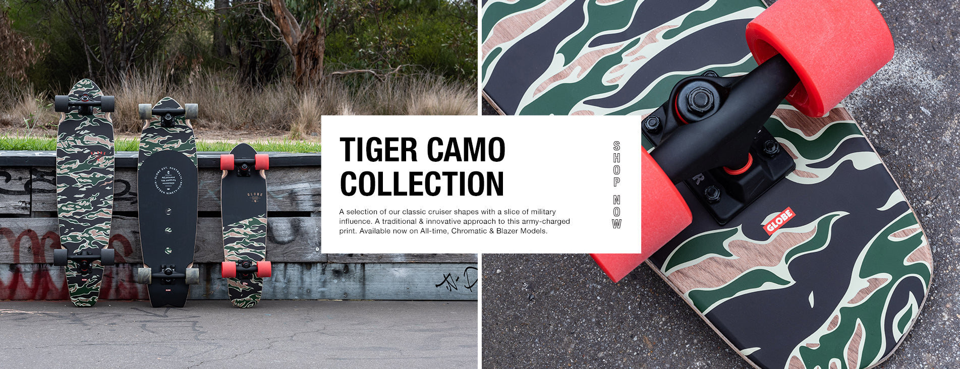 TIGER CAMO SKATEBOARDS