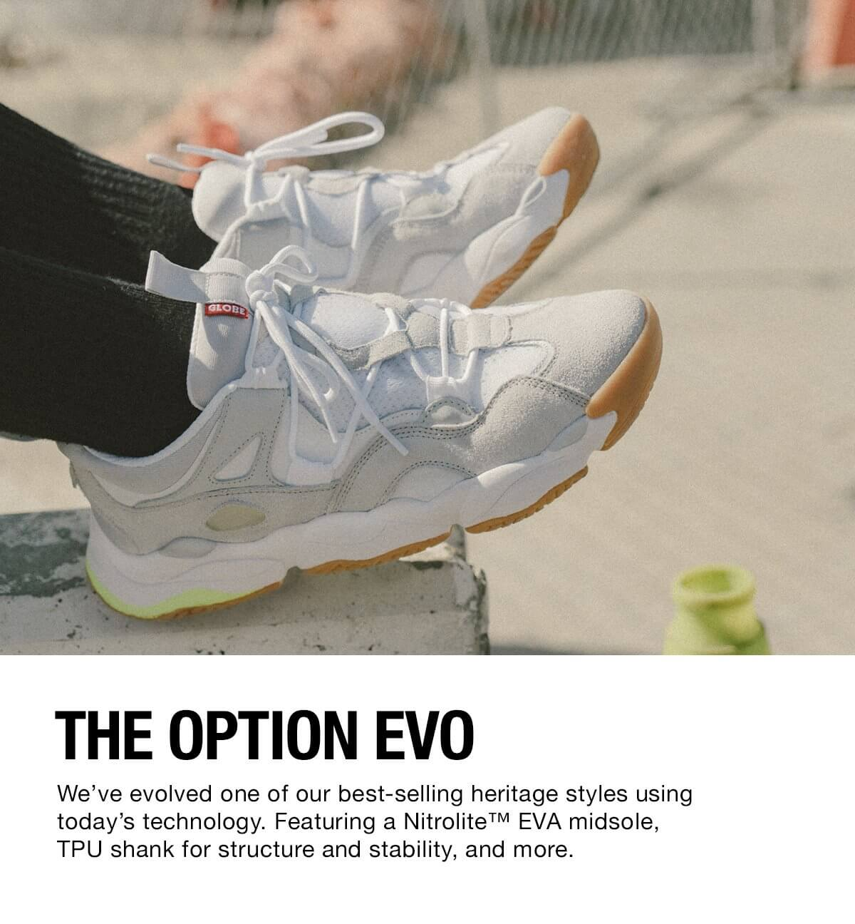 THE OPTION EVO GLOBE WHITE GUM