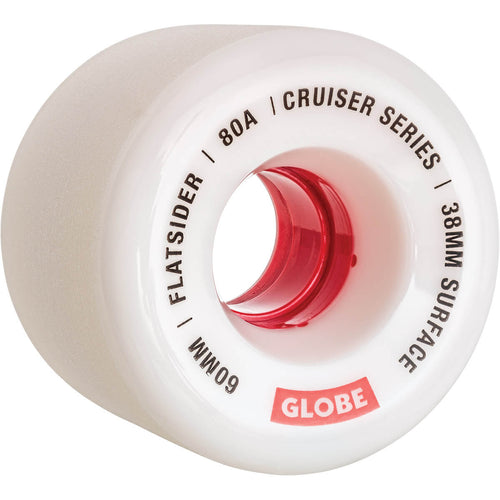 Globe Wheels Flatsider in White/Red