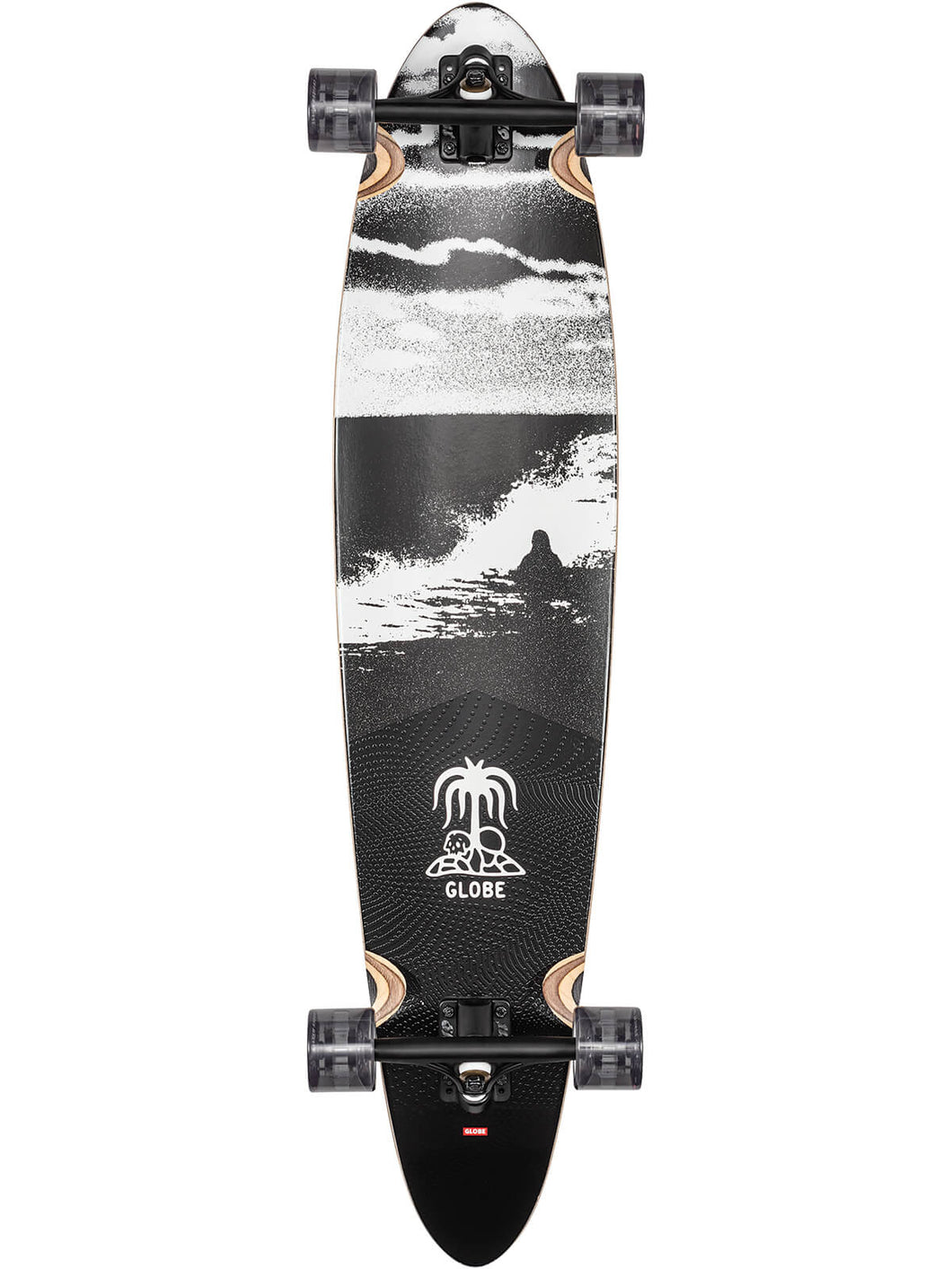 Globe Longboard skateboard Pinner Classic in Coconut/Black Tide
