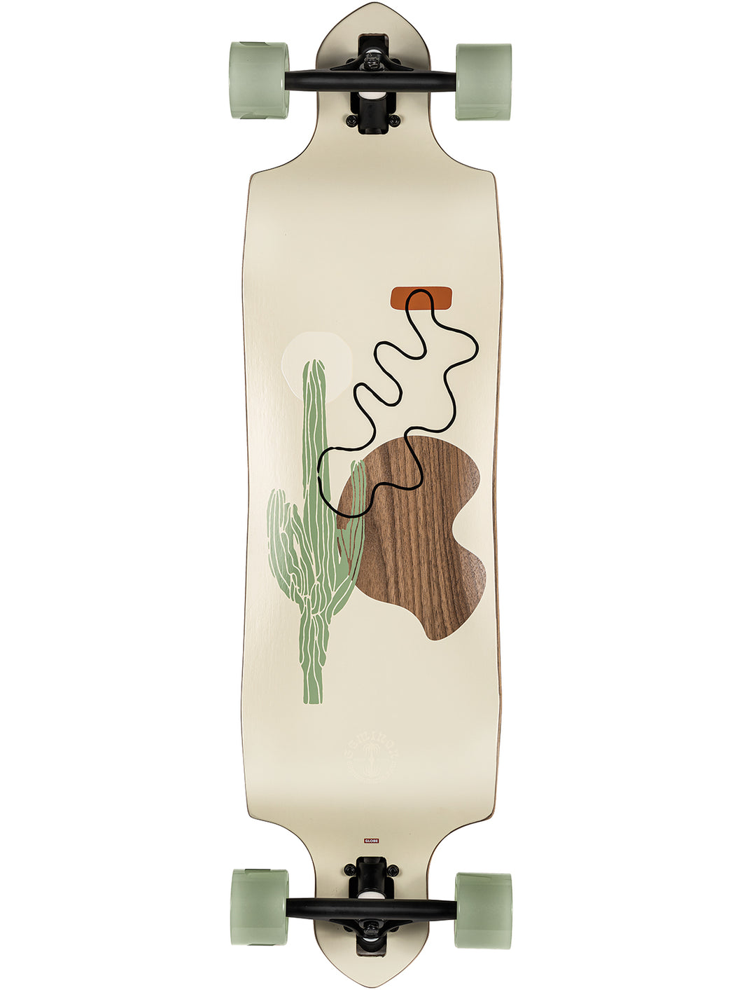 Globe Longboards Geminon Micro-Drop in Walnut/Cacti