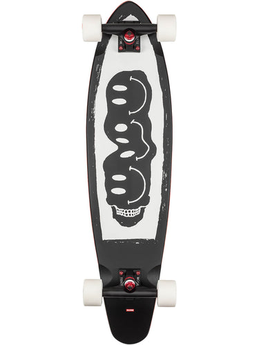 Globe Longboard skateboard Bells in Black/White/Red