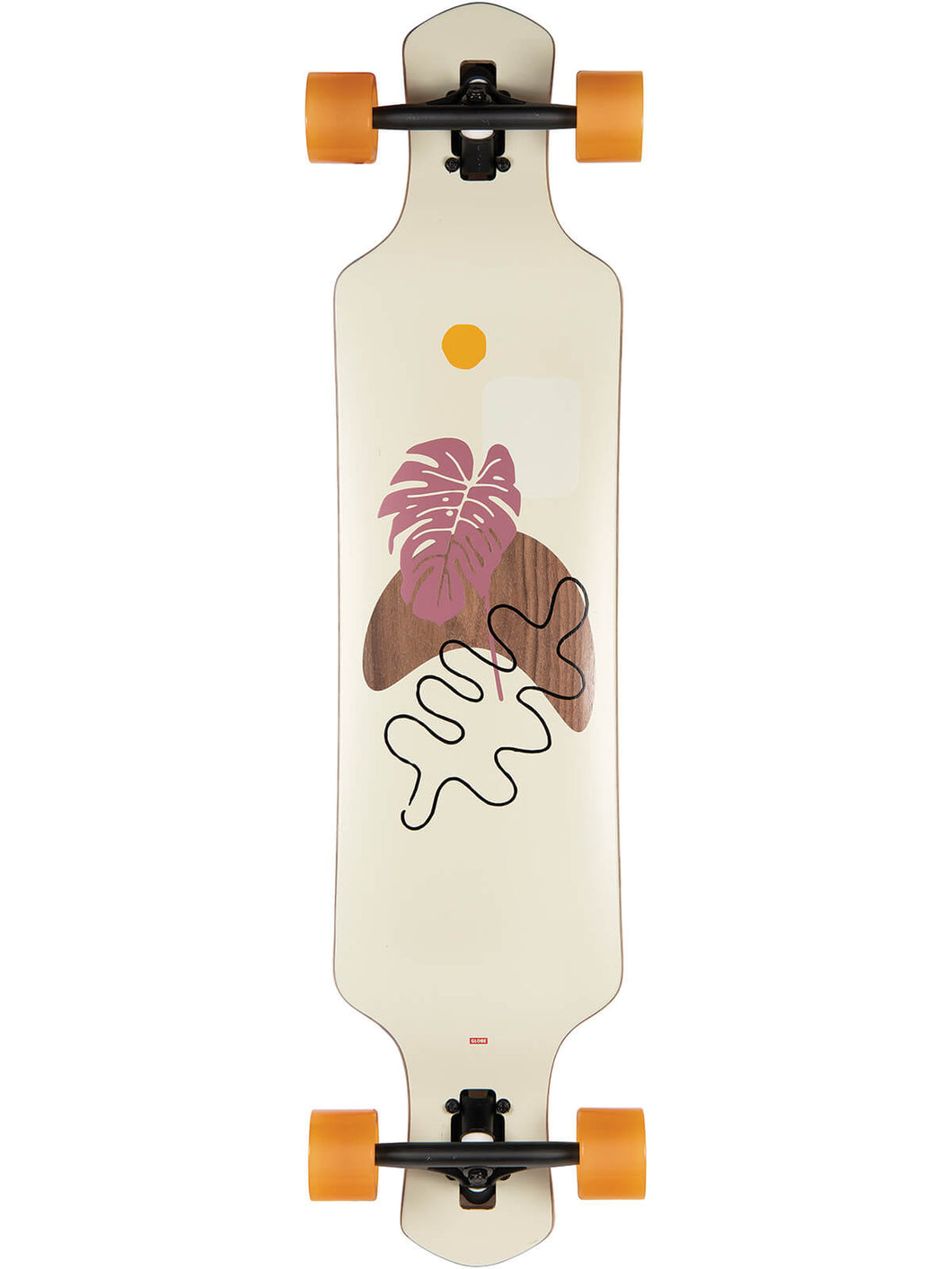 Globe Longboards Geminon 40 Rock in Walnut/Monstera
