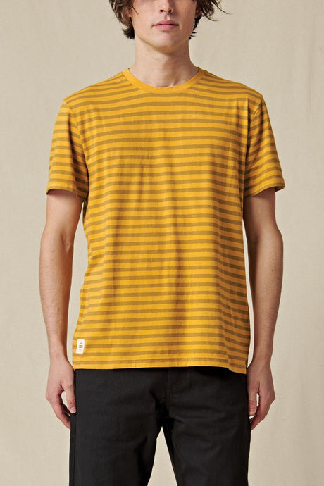 T-shirt Globe - Horizon Striped Tee in Honey