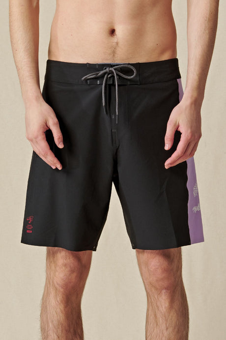 Short Globe - Dion Agius Boardshort in Black