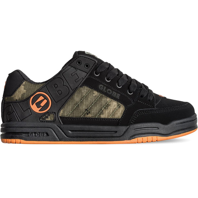 Globe Shoes - Tilt in colour Black/Camo Orange