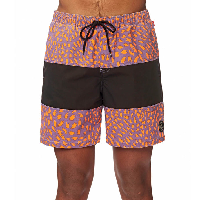 Globe Apparel Wild Life Poolshort in Orange Crush