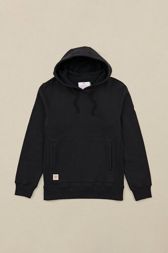 Globe FLEECE Burly Hoodie in Black