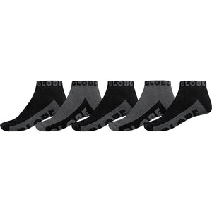 BLACK/GREY ANKLE SOCK 5PK