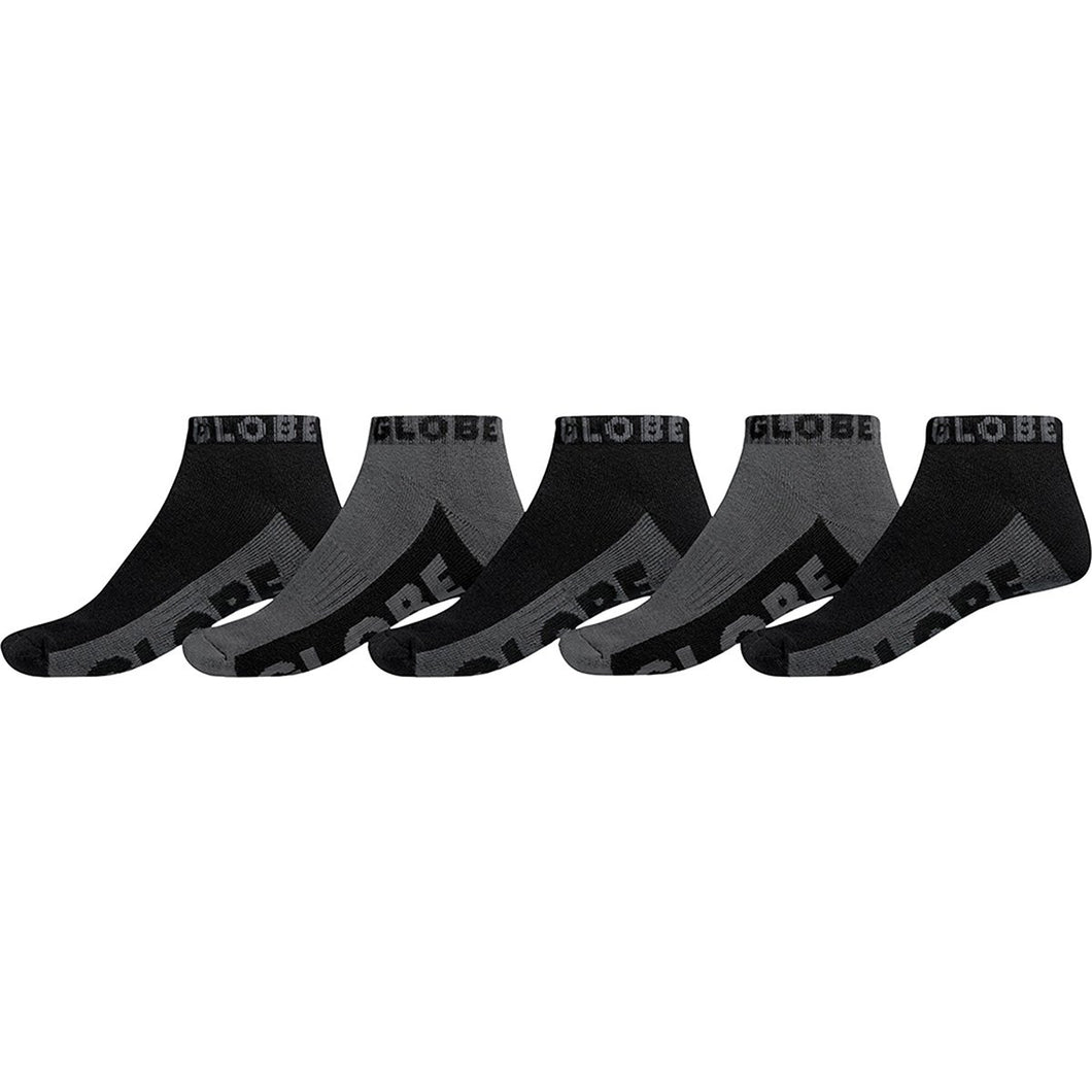 Globe BLACK/GREY ANKLE SOCK 5PK
