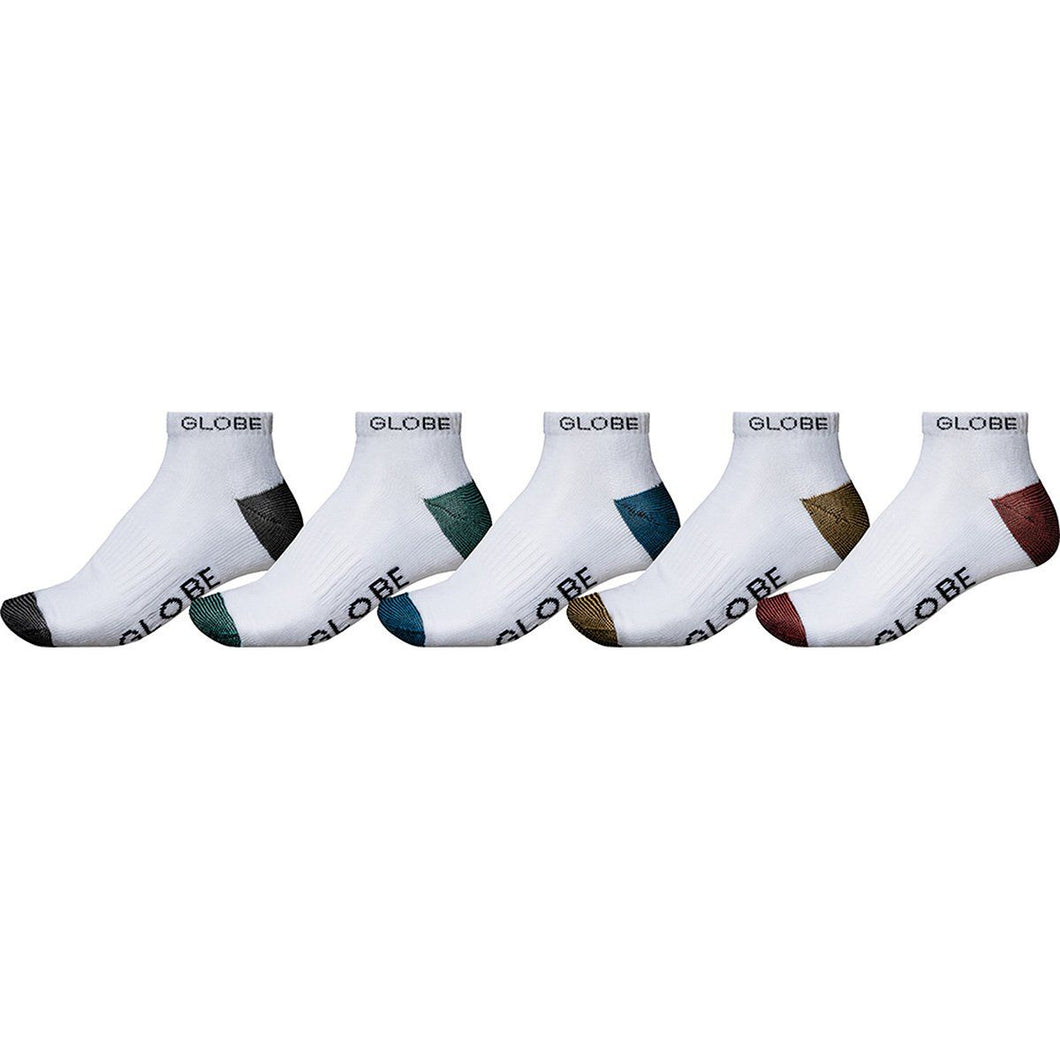 Globe Ingles Ankle Sock 5 Pack