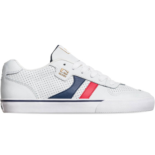 Globe Shoes Encore-2 in White/Blue/Red