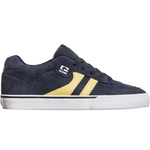 Globe Shoes - Encore-2 in colour Navy/Pale Yellow