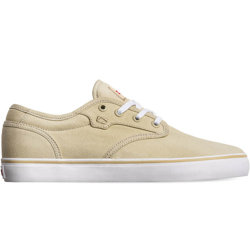 Globe Shoes Motley in Khaki Canvas/White