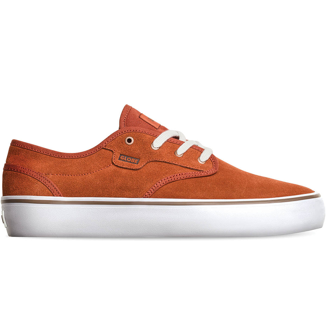 Globe Shoes Motley II in Cinnamon/White