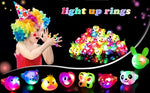 Flashing LED Jelly Light Up Rings