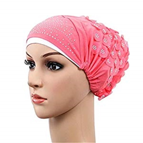Muslim Stretch Turban Hijab Color  Watermelon Red