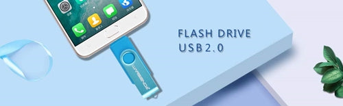 Best  USB Flash Drive  2 in 1 USB Memory Stick Micro Port & USB 2.0 Pen Drive for Android Devices/PC/Tablet/Mac (16GB, Blue)