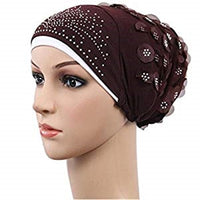 Muslim Stretch Turban Hat Hair Loss Cover Scarf Hijab