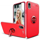 iPhone XS 5.8 inch (Red) Case, [Ring Series] Slim Thin 360 Degree Rotating Ring Kickstand with Magnetic Shockproof Protective Phone Case Cover