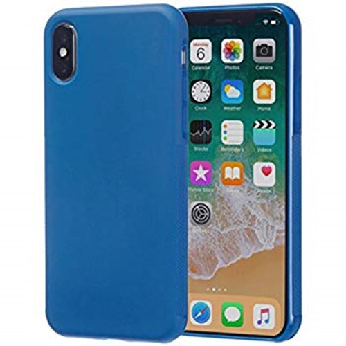 iPhone X Textured Protective Case, Blue