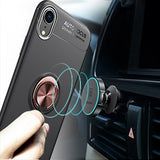 iPhone XR Case, [Ring Series] Slim Thin 360 Degree Rotating Ring Kickstand with Magnetic Shockproof Protective Phone Case Cover